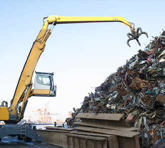 Scrap Metal Recycling Yard - Sterling Heights MI | Admiral Metals - home-page-crane