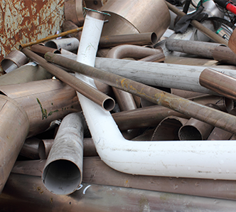 Scrap Metal Recycling Services Sterling Heights MI | Admiral Metals - pipes